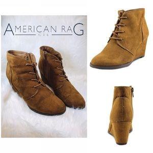 American Rag Baylie Lace Up Wedge Booties